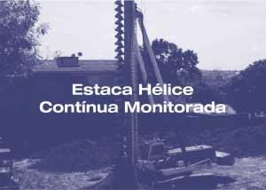 Estaca hélice continua monitorada